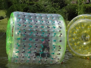 Kids could go in these awesome floaty tubes on the lake!