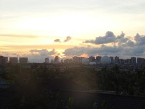 Sun setting over Sanya