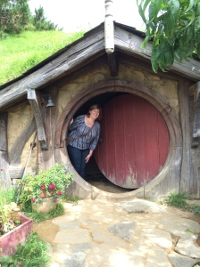 In a hobbit's house!