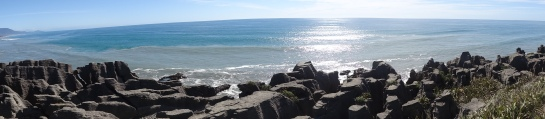 "These are the ""Pancake Rocks"" in Punakaiki on the South Island's western coast."