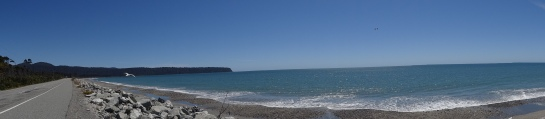 The coastline outside Greymouth