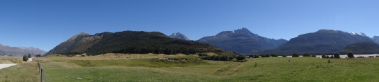 This is a field outside of Glenorchy (in the small town of Paradise) that holds the backdrop for Isengard, and has since been the filming site for other movies such as Narnia Prince Caspian and Wolverine.